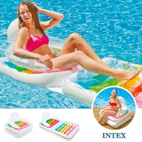 INTEX™-Colchoneta-/-Sillón-Piscina---Plegable