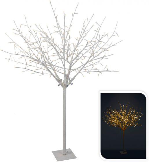 Árbol-blanco-304-LED-blanco-cálido-150-cm