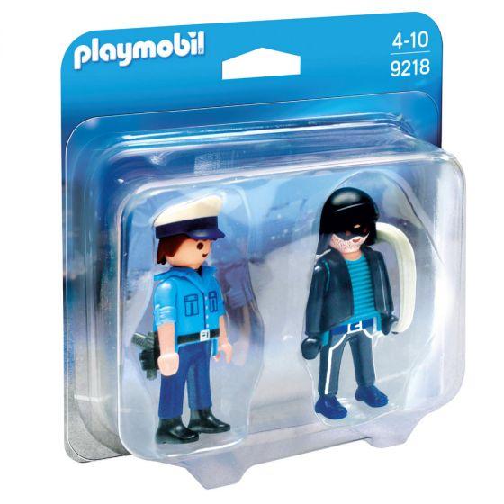Playmobil,-duo-pack-policía-y-ladrón