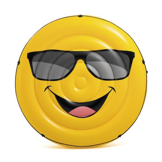 Colchoneta-emoticono-con-gafas-de-sol