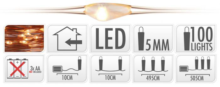 Iluminación-LED-100-luces-blanco-cálido