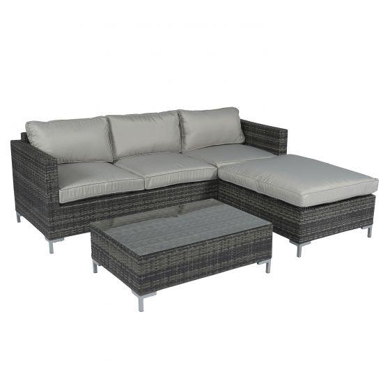 Conjunto-de-salón-con-sofá-esquinero-de-mimbre---gris---Pure-Garden-&-Living