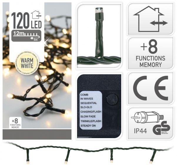 Iluminación-LED-120-luces-blanco-cálido-exterior