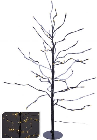 Árbol-LED-marrón-112-luces---90-cm