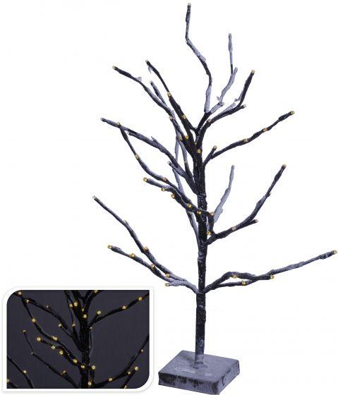Árbol-72-LED-blanco-cálido-60-cm-marrón