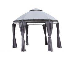 Pérgola-de-jardín-Pure-Garden-&-Living-Capri-Ø350cm-gris