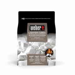 Weber-Pastillas-encendedoras,-22-uds.,-blanco