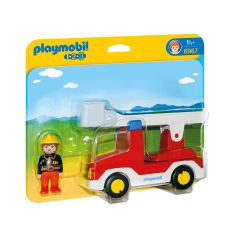 Playmobil,-camión-de-bomberos-con-escalera