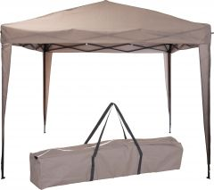 Pure-Garden-&-Living-easy-up-carpa-para-fiestas-de-3x3-metros-marrón