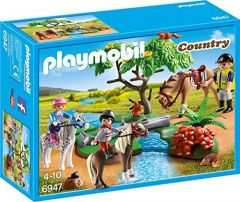 Playmobil-6947,-paseo-de-ponis-en-el-campo