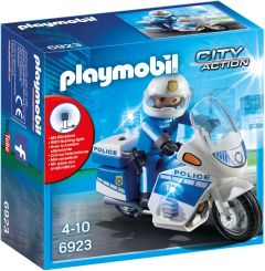 Playmobil-6923,-policía-con-moto-y-luces-LED