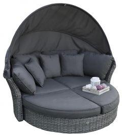 """Salón tipo isla y cama de jardín """"Savanna"""" - Elegant gris oscuro - Pure Garden & Living"""