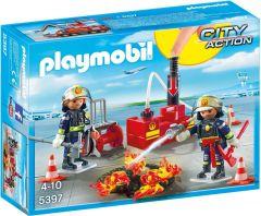 Playmobil-5397,-bomberos-con-equipo-de-extinción