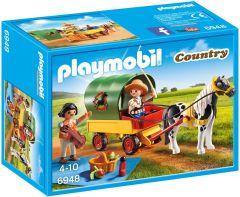 Playmobil,-picnic-con-poni-y-carro