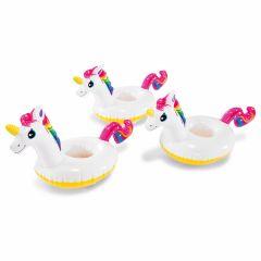 Portavasos unicornio Intex - 3 piezas