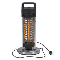 Calefactor móvil de acero inoxidable