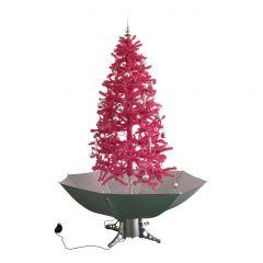 Árbol-de-Navidad-nevando-rosa-180cm