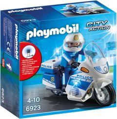Playmobil-6923,-policía-con-moto-y-luces-LED