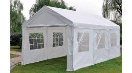 Lujosa carpa para fiestas de 3x6 metros blanca con paredes laterales Pure Garden & Living