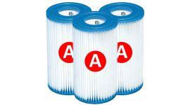 Filtro de cartucho Intex tipo A - 3 piezas