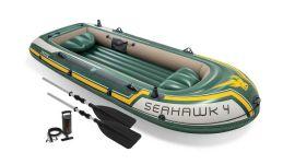 Barca hinchable Intex - Set Seahawk 4 (bomba y remos incluidos)