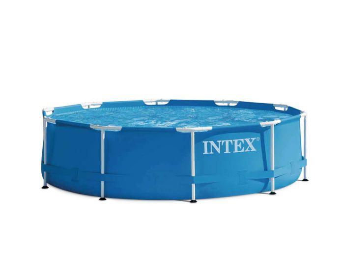 Intex metal frame pool 305 cm for Piscina tubular pequena