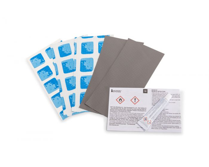 Intex - kit parches reparadores gris