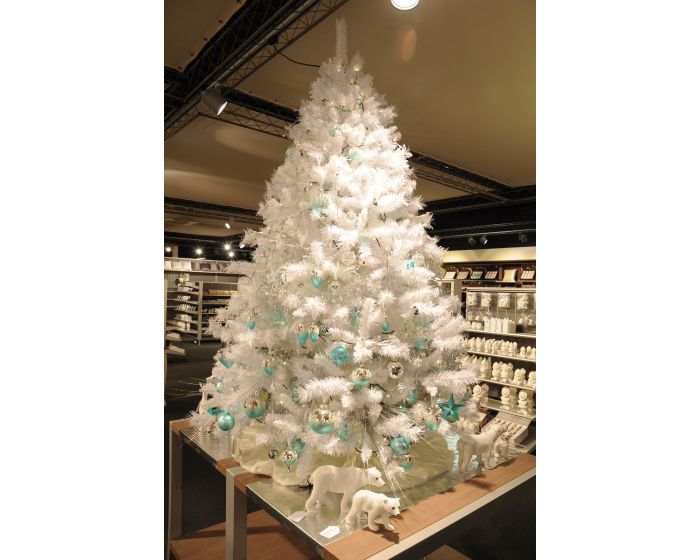 Árbol de Navidad 180 cm blanco