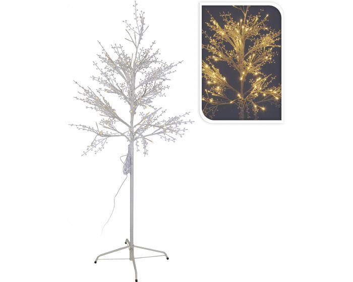 Árbol 120 LED blanco cálido 150 cm