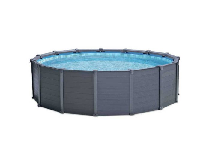 Piscina Intex Graphite Panel Ø 478 cm (conjunto)