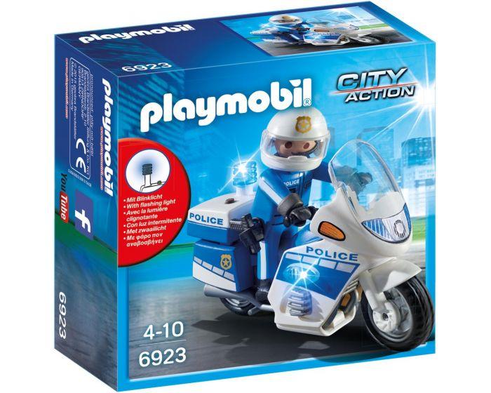 Playmobil 6923, policía con moto y luces LED