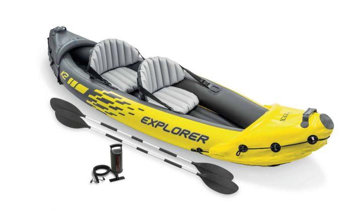 Barca hinchable Intex - Set Explorer K2 | Heuts ES
