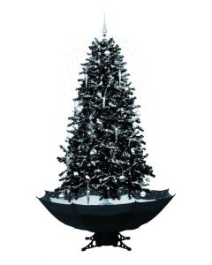 Árbol de Navidad nevando negro 170cm
