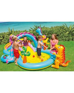 INTEX™ Dinoland Play Center - Piscina infantil zona multijuegos (333 x 229 cm)