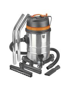 Aspirador industrial en seco/húmedo de acero inoxidable Eurom Force 1240