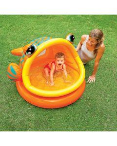 INTEX™ Lazy Fish - Piscina para bebé (124 x 109 cm)