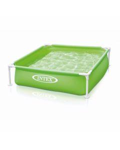 INTEX™ Mini Frame Pool - Piscina infantil verde (122 x 122 cm)