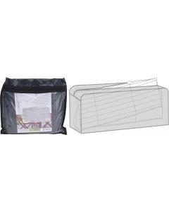Bolsa de almacenamiento para cojines de jardín 135 x 32 x 50 cm