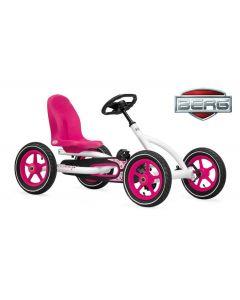 Coche de pedales BERG Buddy Blanco/rosa