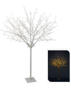 Árbol blanco 304 LED blanco cálido 150 cm