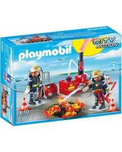 Playmobil 5397, bomberos con equipo de extinción