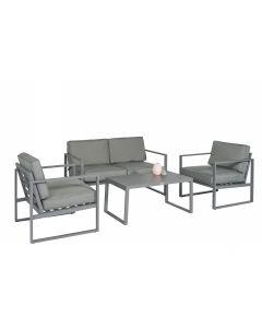 """Conjunto de salón con asientos de aluminio """"Dubai"""" - Gris - Pure Garden & Living"""