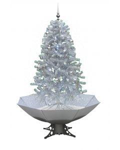 Árbol de Navidad nevando blanco/plateado 170cm