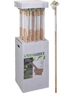 Cepillo para malas hierbas con palo de madera