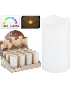 Vela LED con temporizador 7 x 13 cm multicolor