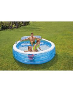 Intex piscina familiar con banco