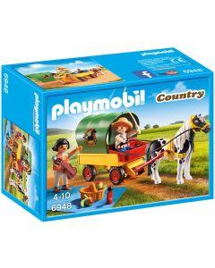Playmobil, picnic con poni y carro
