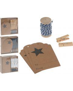 Conjunto de decoración para envolver regalos