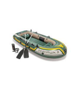 Barca hinchable Intex - Set Seahawk 3 (bomba y remos incluidos)