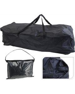 Bolsa de almacenamiento para cojines de jardín, negra